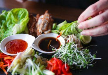 Farcellets vegetals d'alfals amb créixens